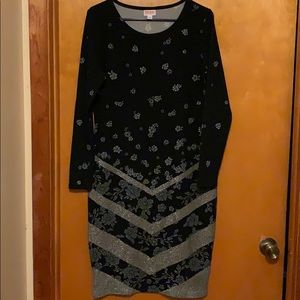 Black Lularoe Debbie elegant dress